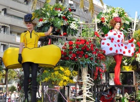 Парад цветов —неотъемлемая и самая яркая часть карнавала