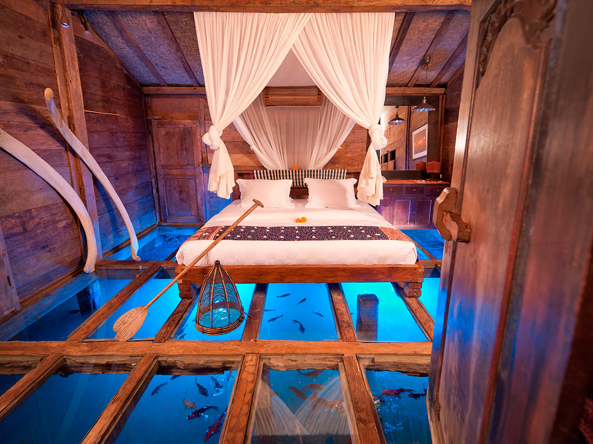 The Glass Floor Udang House Bali, Indonesia