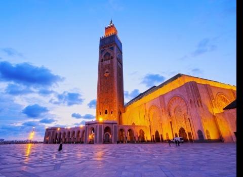 Достопримечательность мира: мечеть Хасана II (Марокко). Была построена в 1993 году. Самая большая в Африке.
